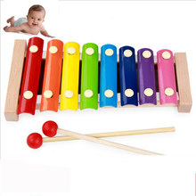 MamimamiHome Baby Beech Wooden Toys Octave Hand Piano Children 's Early Childhood Teaching Aids Toy Musical Instrument