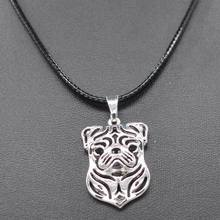 2017 New Arrival  Retail Fashion Style Women's Jewelry Dog Necklaces Lovers Rope Chain Pug Dog Pendant Necklaces Drop Shipping