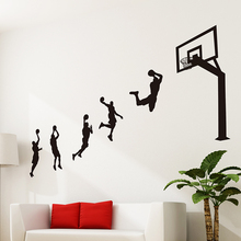 [SHIJUEHEZI] Custom NBA Basketball Players Wall Sticker Vinyl DIY Wall Decals for Kids Rooms Basketball Stadium Shop Decoration