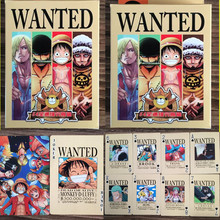 54 pcs/set One Piece Wanted Figures Collection Poker Cards Wanted Playing Cards Color Box Packing Kid Gift Toy