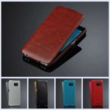 High Grade PU Leather Case for Samsung S6 Flip Cover for Galaxy S6 Cell Phone Case Retro Black Blue Brown Red White