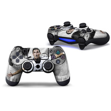 2pcs Cristiano Ronaldo 7 Customs Vinyl Controller Full Upper Stickers Decal Skins for PS4 Wireless Controller(China)
