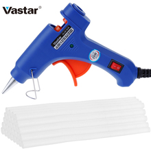 Vastar Hot Melt Glue Gun with 30pc 7mm*200mm Glue Stick Industrial Mini Guns Thermo Electric Heat Temperature Tool(China)