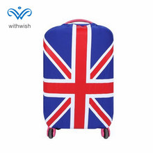 "Fashion National Flag Series Elastic Suitcase Luggage Covers Protector Apply to 18-30"" Trolley Case 6 Flags Patterns Optional"