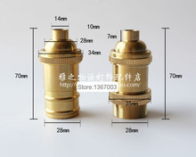 E14 Brass Lamp Socket, Copper Lamp Base Bulb Lamp Holder Adapter Bulb LampHolder DIY(China)