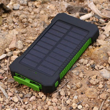 AKASO NEW Waterproof Solar Power Bank 10000mah Dual USB Li-Polymer Solar Battery Charger Travel Powerbank With a compass