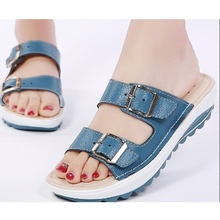 Muqing 2017 Fashion Women Sandals Slip On Slipper Casual Shoes Candy Color Buckle Beach Summer Shoes 7N0036(China)