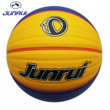 JUNRUI High Quality Non-slip Size 7 PU Leather Basketball Balls Wear-resisting Outdoor Indoor Mens Training Ball basquete JB-701(China)