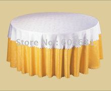 STC041,Table cloth for folding tables,White tab top layer,gold bottom layer