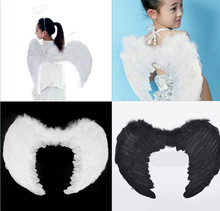 Kids adult Angel Wings Fancy Dress Fairy Feather Costume Outfit Large Adult  Hen Chic Party Supplies