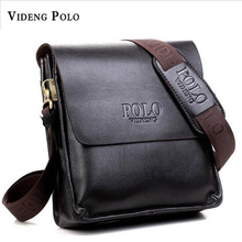 2017 Fashion Brand Videng Polo Men Bags High Quality PU Leather Designer Men Messenger Bags Luxury Bags Cross Body Bags M001(China)
