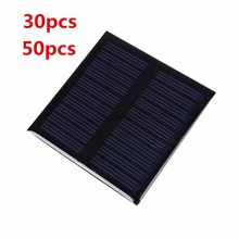 30pcs 50pcs 0.45W 5V DIY Mini Solar Panel Solar Module System Epoxy Plate DIY Small Cell Battery Charger Outdoor Camping