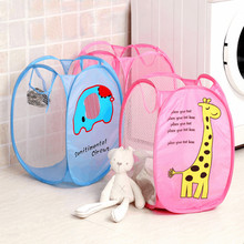 Cartoon Characters Folding Dirty Clothing Laundry Bucket Storage Basket Children's Toys Shoe Sundries Storage Organizer