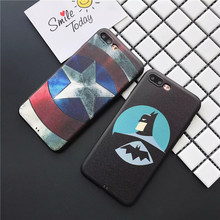 Cool Captain America Batman & Star Wars Soft Leather Slicone Case Cover Coque for iPhone 7 6 6S Plus Phone Cases Capa Fundas