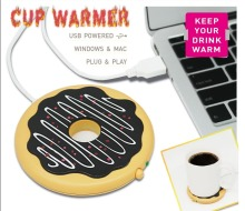 Free Shipping 1Piece Wonderful Donut ! USB Powered Donut Mug Warmer Giant Donut Warmer Coaster USB Cup Warmer Biscuit Tray Pad