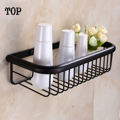 Antique brass whole black bathroom shelf square blasket shelf for bathroom single tier bathroom rack<br><br>Aliexpress