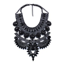 PPG&PGG Statement Fashion Women Gun Black Stone Pendant Collier Femme Collar Choker Vintage Maxi Chunky Necklace Jewelry