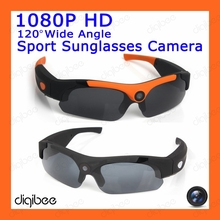 New Cool Fashion Wide Angle HD 1080P Camera Polarized Sunglasses Outdoor Cycling Sport Smart Glasses Wearable Camera Mini DV DVR(China)