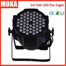 1 Pcs 54*3W LED par light dmx aluminium LED par can DMX 512 led par 64 light stage effect lighting disco bar night club lighting