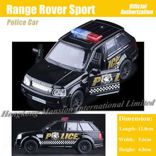 1:36 Scale Diecast Alloy Metal Police Car Model For Range Rover Sport Collectible Model Collection Pull Back Toys Car