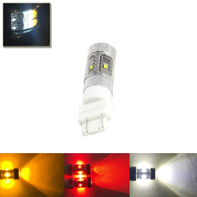 1PC White Red Amber Car 3157 3156 Led Bulbs Brake Tail Stop Lamp Lights 3057 3457 4157 3047 T25 Car Styling External Lamps Bulb
