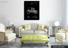 VANQUISH Vehicle 1903 Patent Art Drawing by Prior Art Design Still life Modern oil Painting Drawing art Spray Canvas01074316(China)
