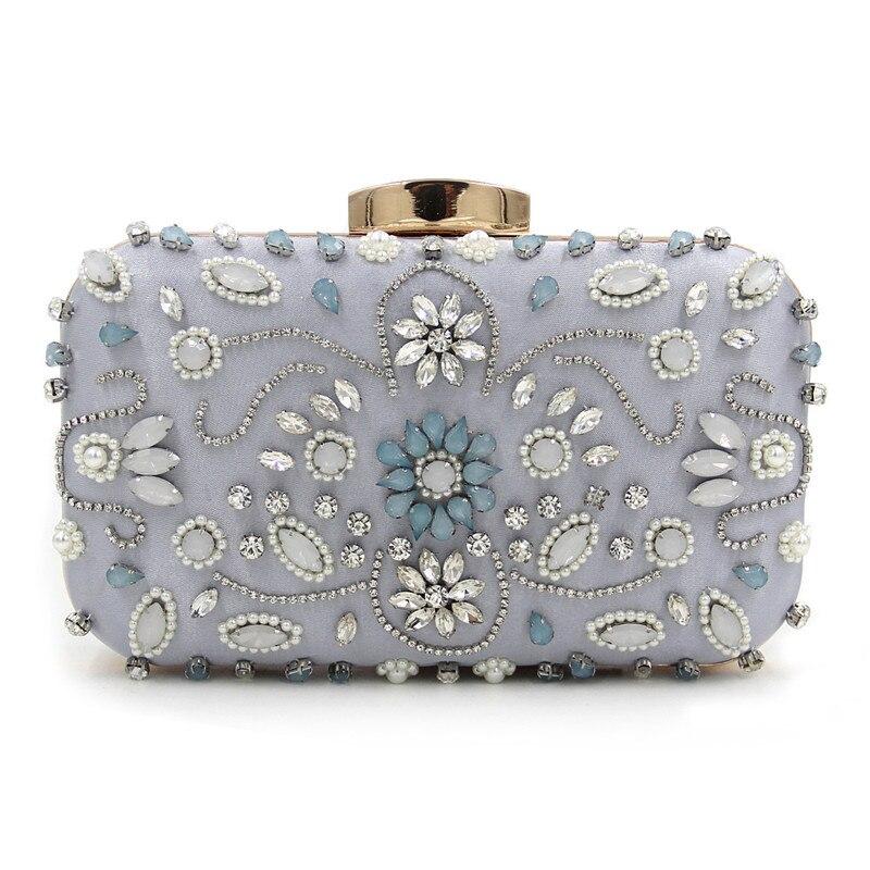 Fashion Womens Bronzing Acrylic Finger Ring Diamond Evening Bags Clutch Bags Shoulder Chain Womens Handbags<br>