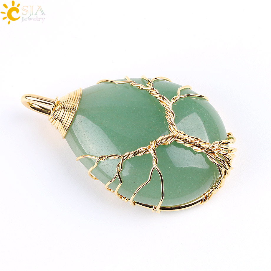 Green Aventurine Gold