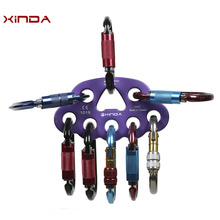 XINDA 45KN Aluminum Magnesium Alloy High Strength Rigging Plate with Eight Holes Design for Outdoor Climbing Rocking (Purple)(China)