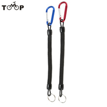 2Pcs/lot 1.4m Coiled Fishing Safety Rope Elastic Fishing Rod Missed Protective Line Rope Pesca