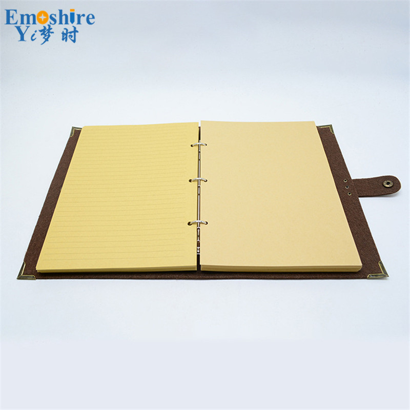Emoshire B5 felt loose-leaf notebook large note diary kraft paper felt loose-leaf can wholesale custom logo (1)