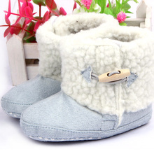 Fashion Winter Baby Boys Girls Cotton Boots Infant Anti Slip Snow Boots Prewalker Shoes