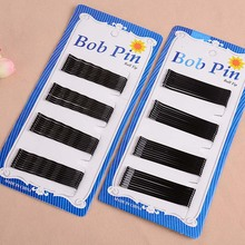 60pcs/card black hair clip professional make up hair maker accessory  bobby pins Hairpin Barrette Hair Jewelry Accessories