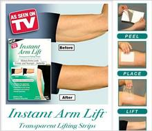 Retail pack Instant arm lift makes arms look firm and younger slimming arm shaping transparent lifting strips sticker ASSEENONTV