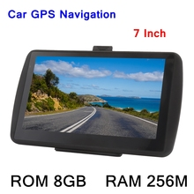 7inch HD Touch Screen Car Portable GPS Navigator 256M 8GB MP3 Video Player Car Entertainment System with Free Map FM Ebook Game(China)