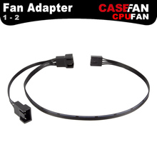 ALSEYE Fan Adapter (2 piece/lot) 3pin/4pin Cooler 1 to 2 Extension 300mm+110mm Cables for Computer Case Fan and PWM CPU fan(China)