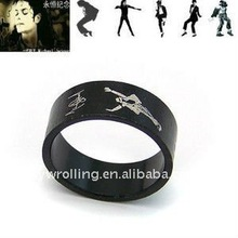 Titanium steel forever Michael Jackson Ring 12pcs/lot .-shipping(China)