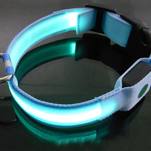 Pure Color Dog Cat Pet Flashing Led Collar Night Light Up Saftey Lead Necklace Leash Adjustable XS S M L XL Various Colors