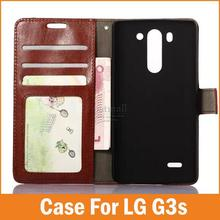New Crazy Horse Fundas Para For LG g3s g3 s mini Case Wallet Design with Card Holder Cover Stand Mobile Phone Bags Accessories