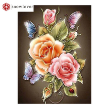 flowers Butterfly Rose Resin Full diy diamond painting diamond mosaic painting embroidery Gift making tools diamond pattern