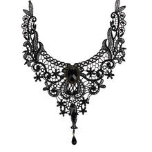 Fashion Goth Necklaces For Women 2017 Beauty Girl Handmade Jewelry Retro Vintage Lace Necklace Collar Gothic Choker Necklace(China)
