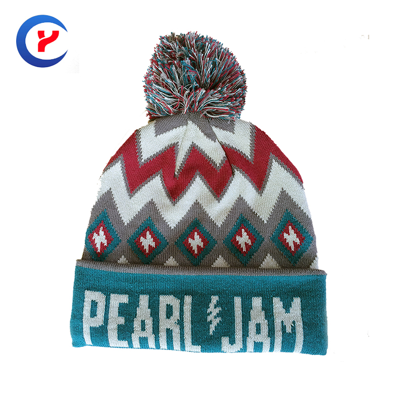 2017 New arrival Hot classical colorful  jacquard Knitted hat with pompons for women High quality casual Knitted caps #x35Одежда и ак�е��уары<br><br><br>Aliexpress