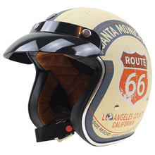 Harley Style Lucky 13 design Motorbike Helmet TORC 3/4 chopper helmet 3 pin with visor DOT approved USA style motorcycl helmet(China)