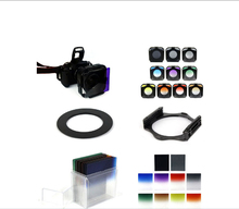 for Cokin P 49mm ring Adapter + 10pcs square color filter + Filter box + filter holde
