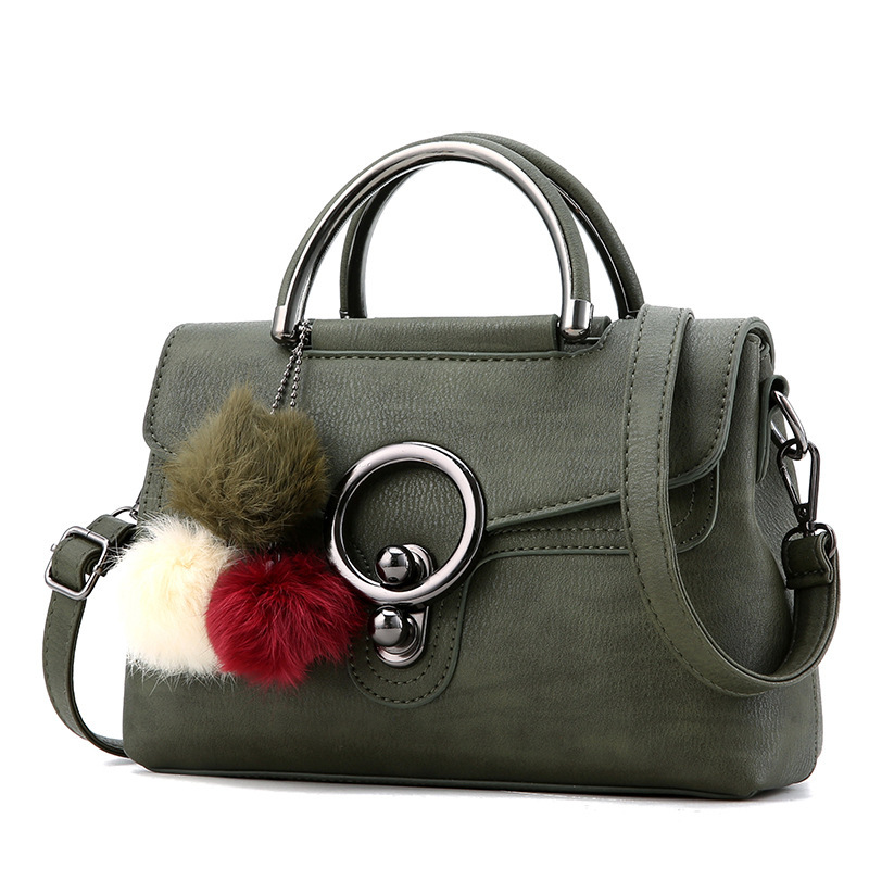 2017 Leather Boston Women Handbag Fashion Luxury Shoulder Bag Solid Zipper Women Pillow Bag Ladies Bag Bolsos Sac A Main Bolsas <br><br>Aliexpress