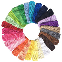 "Bulk Sale 1.5"" Cheap Low Price 120pcs Crochet Headband Girls Crochet Headwrap Headbands for Women Headwear Assorted 12 Colors(China)"
