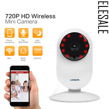 3.6mm White Onvif Mini WIFI IP Camera CCTV HD 720P Night Vision For PC/Pad/Phone App Audio Record Alarm Home Security