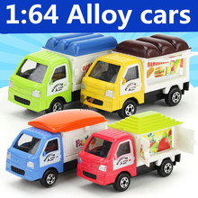 1:64 alloy cars ,high simulation Cute delivery car (4 Pack) ,Children favorite model, metal casting, toy vehicles, free shipping