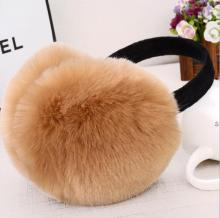 Fashion Rabbit Fur Women Earmuffs For Brand Winter Earmuffs Comfortable Warm Ear Cover Ear Warmers For Girls