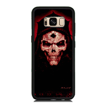 Cool Smile Skull Skeleton Painted Soft Rubber Cellphone Case For Samsung Galaxy S8 S8 Plus S7 S6 Edge S5 Hard PC Back Cover Skin